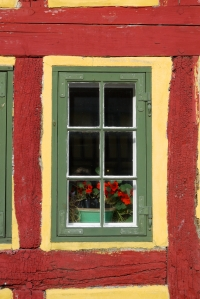 Kerteminde yellow house window detail
