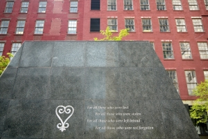 African Burial Ground memorial New York City