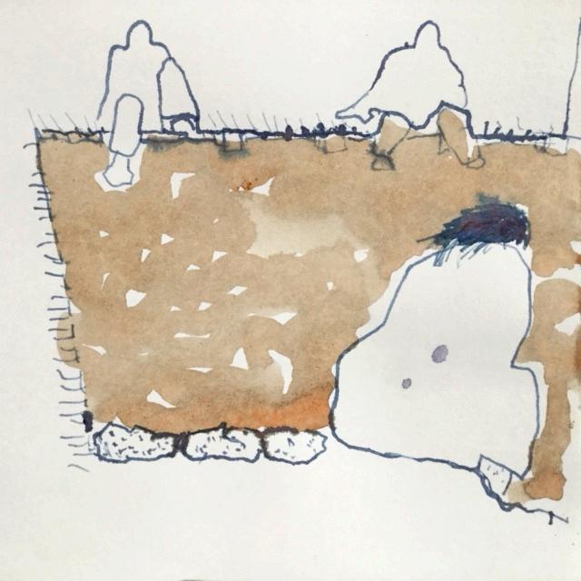 meditators - Rena drawing