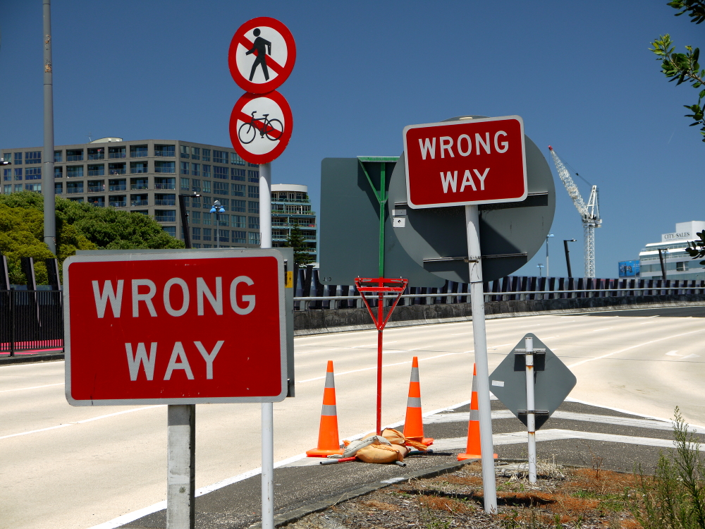 wrong way 1
